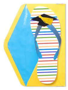 """""""You Did It! Time for a Little Rest & Relaxation"""" 3D GRADUATION CARD Papyrus $7"""
