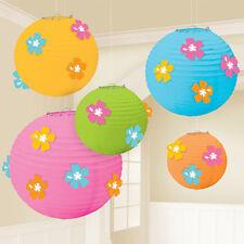 5 X Hawaïen Hibiscus pendant Papier Lanternes Décoration de Fête