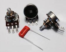 Bourns 250K Pro Audio Split Shaft Audio Taper Pots (3X) & .022uf Orange Drop cap