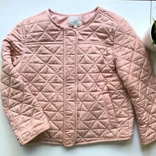 Ann Taylor LOFT Pink Quilted Bomber Jacket Women's MEDIUM PETITE MP EUC