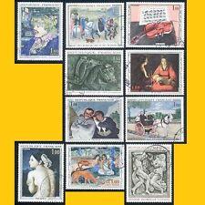 LOT 10 FRANCE GRANDS FORMATS OBLITERES - ARTS : TABLEAUX, SCULPTURES - 1964-68