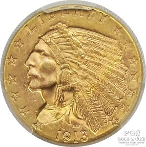 1913 $2.50 Indian Gold Coin Early US Gold Coinage 22150