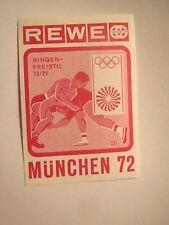 Rewe - Olympia München 1972 - Ringen - Freistil / Streichholzetikett