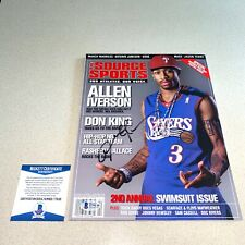 ALLEN IVERSON HOF signed autographed 76ERS SOURCE SPORTS MAGAZINE BECKETT COA