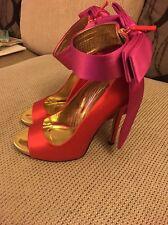 Kate Spade Orange And Pink Grande Bow Shoes BNWOB RRP$595 Uk 6