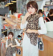 Vente chaude Mode longue écharpe de mousseline léopard châle Lady Femme