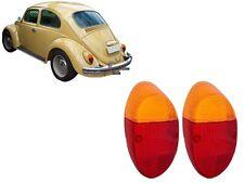 VW BUG Left Right Rear Tail Light LENSES PAIR 2pcs Red Amber BEETLE 62-67 EMPI