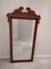 Ethan Allen Mirror Canterbury Oak Beveled Glass Crested Top 28 9420 10 1193 228.