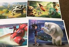 Disney Store Authentic Tinker Bell And The Neverbeast Lithograph Set of 4 NEW
