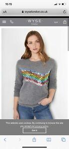 wyse london Valentine Rib Sequin jumper Size 2 (10-12) RRP £250