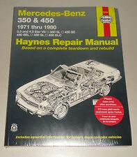 Reparaturanleitung Mercedes 350 + 450 R107 SL / SEC + W116 SE / SEL,1971-1980