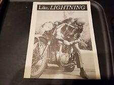 """BSA Lightning Specs Foldout Reprint from """"Cycle Guide"""" Great Condition"""