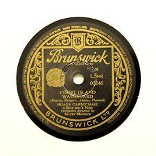 "HOAGY CARMICHAEL ""Coney Island Washboard / Ida Red"" (E+) BRUNSWICK 05246 [78]"
