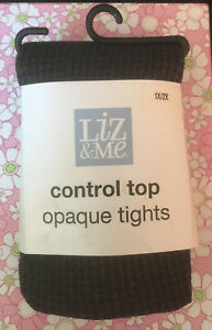 Liz & Me control top Opaque Footed Tights (1x/2x) Gray. NWT. Nice!!