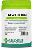 Hawthorn Berry Multi Botanical Formula 100 Tablets Antioxidant Heart Lindens UK