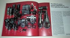 LEICA ELECTRONIC R3  DEALER BOOKLET IN GOOD CONDITION.