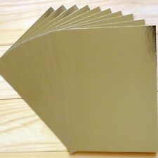 """GOLD FOIL MIRROR CARD BOARD A4 275GSM x 10 SHEETS """"SPECIAL PRICE"""" - NEW"""