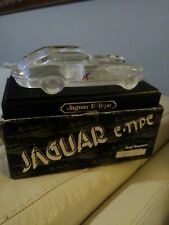 Vintage Hofbauer Lead Crystal Model Jaguar E Type With Display Stand New with Bx