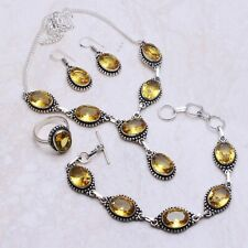 Citrine Gemstone Ethnic Handmade Jewelry Sets L-540