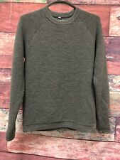 Lululemon grey knit long sleeve sweater ribbed crew neckline Size Unknown