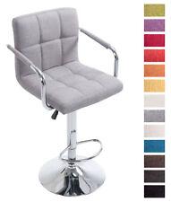 Tabouret bar LUCY V2 fauteuil chaise tissu accoudoir chromé design cuisine neuf