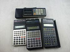 Lot de 4 calculatrices vintage, Sharp, Casio