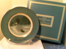 Nib Vtg 1976 Avon Christmas Plate-Bringing Home Tree (22 Kt Gold Trim)-Free Ship