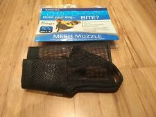 NEW Ancol Nylon Black Mesh Adjustable Dog Muzzle Breathable Fabric