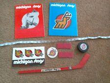Sale!  Michigan Stags Lot - tickets, puck. programs, bumper sticker, pin & more