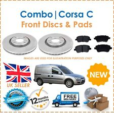 For Combo Corsa C Van 1.3 1.7 CDTi DTi Two Front Vented 260MM Brake Discs & Pads