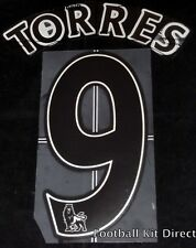 Liverpool Torres 9 Name/Number Set Football Shirt Lextra 07-13 Away