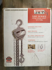 Jet S90 050 10 Contractor 05 Ton Hand Chain Hoist With 10 Foot Lift Amp 2 Hooks