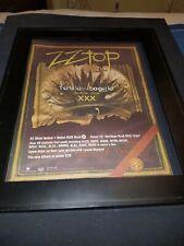 Zz Top Fearless Boogie Rare Original Radio Promo Poster Ad Framed!