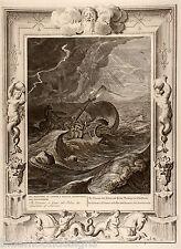 Picart 1733-CASTOR Pollux Guardians of Mariners protettore della dei navigatori