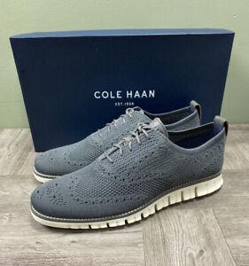 Cole Haan Zerogrand Stitchlite Wingtip Oxford Mens Size 9 Magnet Grey C30562 NEW