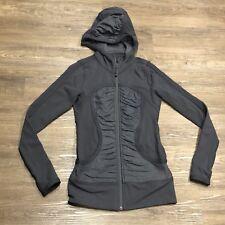 Lululemon Pure Balance Jacket 4 Coal Gray Coat Zip Up Ruched Luon Hoodie