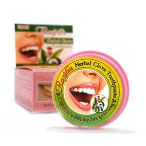 ISME Rasyan 3 x 25 g Herbal Clove Toothpaste Antibacterial Breath Whitening J2D3