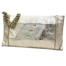 47bf069633 Borsetta donna borsa clutch a mano da sera cerimonia pelle Annaluna 191  platino