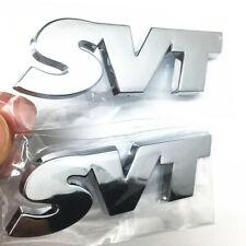 Pair of SVT Chrome Name Plate Deck Lid Rear Emblem Fits Ford  Mustang