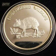MALAWI, 10 KWACHA 2005, CHEVROTAIN, SILVER PLATED, ENCAPSULATED, PROOF.
