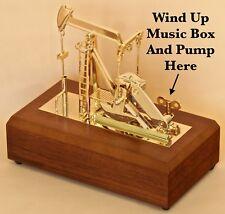Oil well oilfield gold pump jack model gift Music Box drill bit sticker