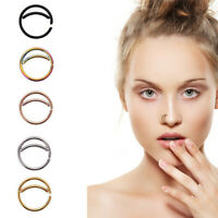 5 PCS Stainless Steel Moon Nose Ring Hoop Nose Piercing Ring Septum Body Jewelry