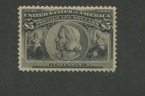 1893 United States Postage Stamp #245 Mint Regummed XF