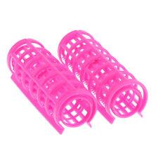 Pack of 12 Hair & Bangs Curlers Plastic Rollers Tubes Styling Curling Tools