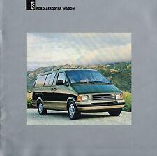 1991 Ford AEROSTAR WAGON Van Brochure / Catalog: XL,+ Plus,EDDIE BAUER,XLT, 4WD,