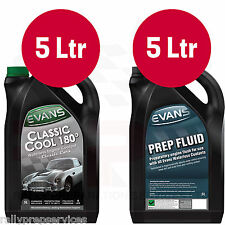 EVANS WATERLESS COOLANT CONVERSION KIT - 5 Ltrs CLASSIC COOL 180 + 5 Ltrs PREP