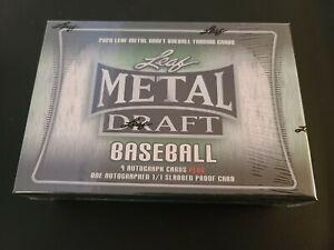 2020 Leaf Metal Draft Baseball Jumbo Box