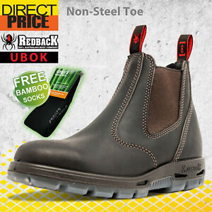 Redback UBOK Non Safety Work Boots. NO Steel Toe. Elastic Sided Bobcat Oiled Kip
