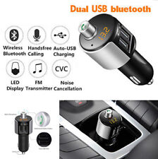 12V/24VCar Handsfree Bluetooth Dual USB Phone Charger FM Transmitter LED Display