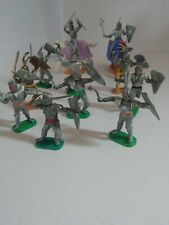 11 Timpo Toys Knights 10 Silver Armour 2 mounted and 8 on foot Plus 1 Golden